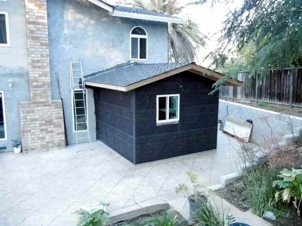 Addition Using Structural Insulated Panels For Walls And